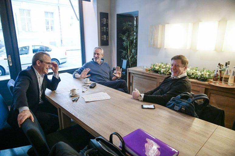 Philippe Riboton, Paolo Lanzarotti and Gilles Bérouard